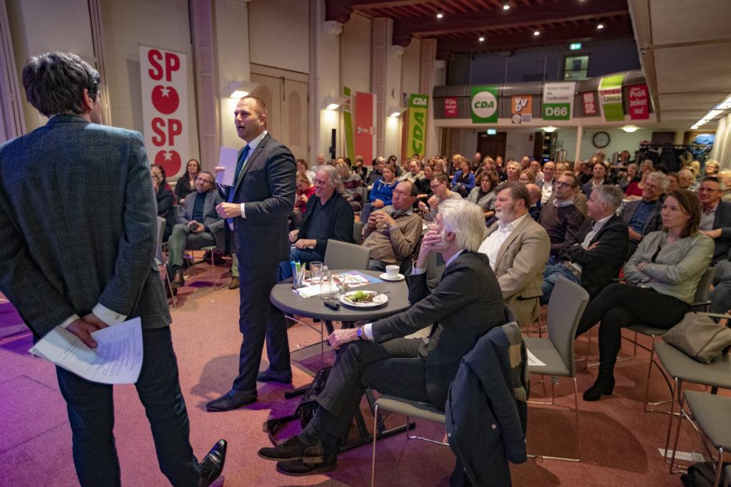 Gespreksleider Lennart Booij met Rudmer Heerema, Woordvoerder Sport VVD, Tweede Kamer