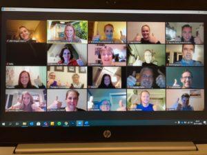 online bijeenkomst zorg en bewegen verbinden